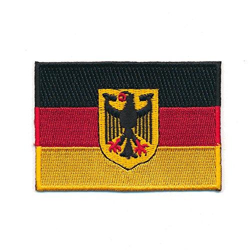 40 x 25 mm Deutschland Flagge Berlin Germany Flag Patch Aufnäher Aufbügler 0625 - Fußball 40