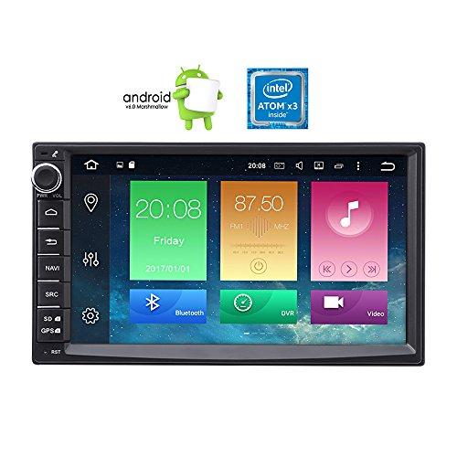 """Masione Android 6.0Autoradio Double Din avec GPS Navigation 7""""Dans Dash voiture Audio Stéréo Lecteur Vidéo HD Touch Screen 1080p Récepteur radio FM/AM/RDS Head Unit avec Bluetooth Mirror Link WiFi"""