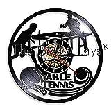 ClockHM 1 Pièce Jouer Ping-Pong Horloge Murale Vinyle LP Record Horloge De Tennis De...