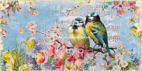 nostalgische-postkarte-xxl-carola-pabst-meisen-im-fruhling-glitzer