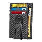Hobest Men's Wallet, RFID Blocking Leather Wallet Slim Front Money Pocket Credit Card