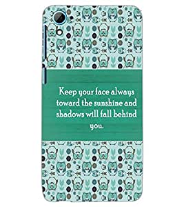 HTC DESIRE 826 QUOTE Back Cover by PRINTSWAG