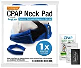CPAP Nackenpolster, Fleece-Material gebaut Riemenabdeckung von RespLabs Medical | Full Face oder Nasen ResMed oder Phillips Respironics Masken + Probe Wipe & CPAP Chap