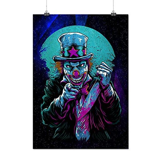 Clow Böse schaurig Horror Mattes/Glänzende Plakat A3 (42cm x 30cm) | (Katze Kostüme Wilde Böse)