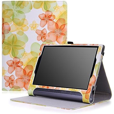 Lenovo Yoga Tab 3 pro Funda - MoKo Slim Folding Cover Funda para Lenovo Yoga Tab 3 Pro 10.1 Inch Tablet, Floral Verde