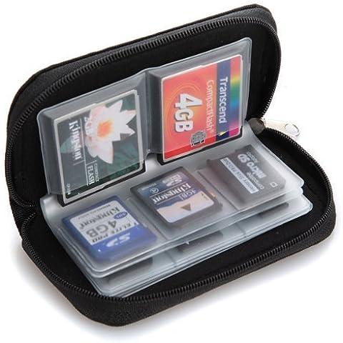 Estuche con fundas para tarjetas de memoria SD, SDHC y MMC (22 fundas)