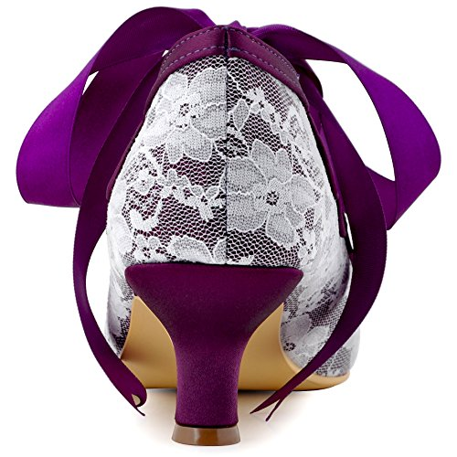 Elegantpark Violett Party Damen Brautschuhe Hc1521 Lace qxwUg8vq