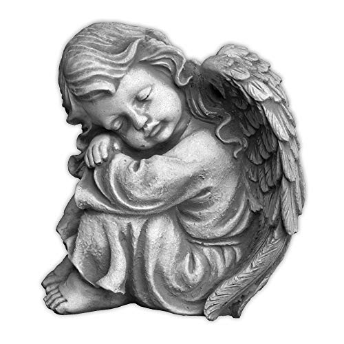 gartendekoparadies.de Massive Steinfigur Engel Raumdeko Grabdeko aus Steinguss