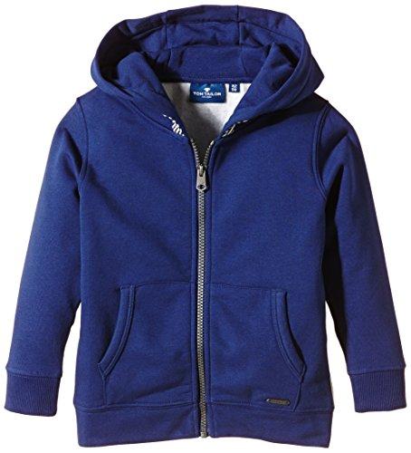TOM TAILOR Kids Jungen Sweatshirt sweatjacket with back print/509, Gr. 110 (Herstellergröße: 104/110), Blau (dutch blue 6339)