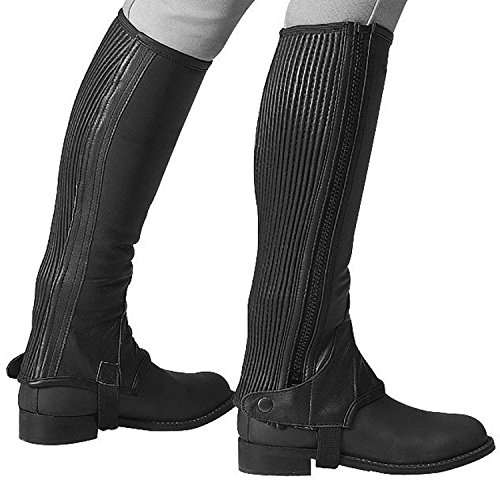 Eric Thomas in pelle half-chaps - black