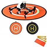 flycoo 110cm Landing Pad Drone Hubschrauber Parkplatz Schürze Start Landung hélisurface Pad leicht zu biegen für DJI Phantom 34Inspire Mavic Pro Spark
