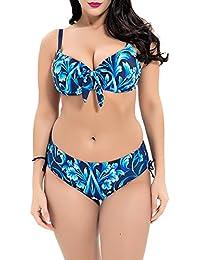 e0b76da24d009 iBaste Plus Size Bikini Damen Badeanzug Bikini Swimsuit Bademode Für Mollige  Frauen große größen Bikini-Set…