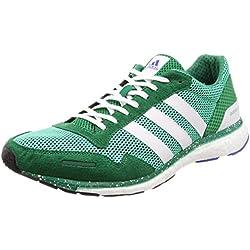 adidas Adizero Adios M, Zapatillas de Cross para Hombre, Verde Hi-Res S18/ftwr White/Bold Green, 39 1/3 EU