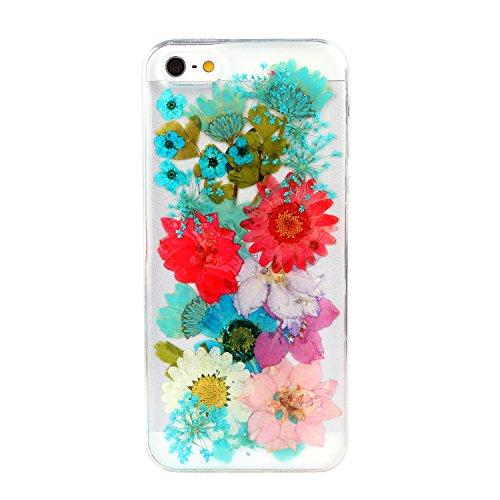 Schutzhülle für iPhone 5/5G/5S, Custom Einzigartige iPhone 5/5G/5S Fall, persönliche Telefon Fall, gepresst Blume Handy SchutzHülle für Iphone 5/5G/5S Color 06