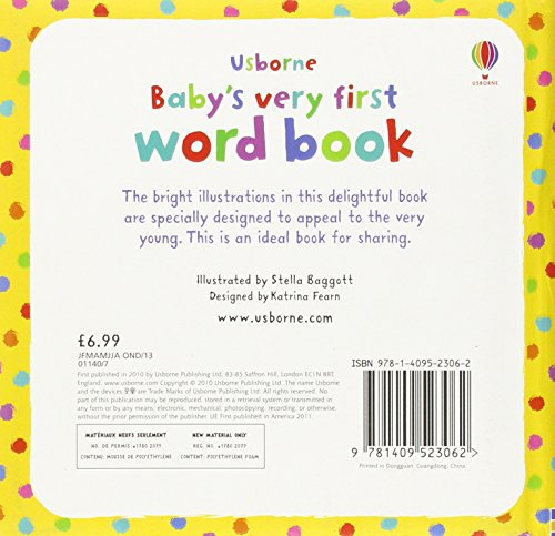 Baby's Very First Word Book (Baby's Very First Books)