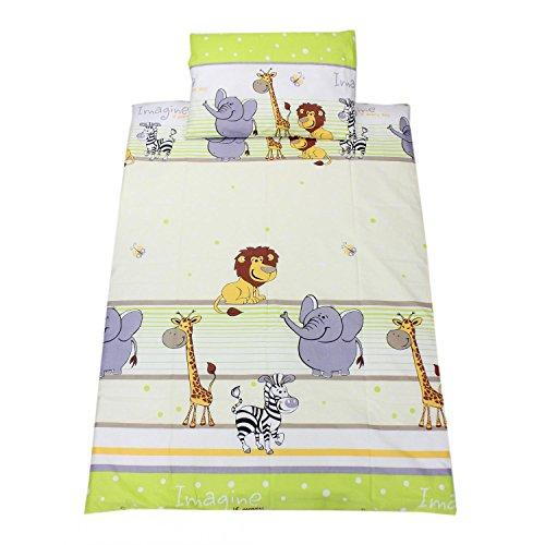 TupTam Kinderbettwäsche Gemustert 2 teilig, Farbe: Imagine Grün, Größe: 135x100 cm