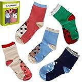Bündel Monster 5 Paar 3-8 Jahre Old Kinder Mädchen Viele Cute Design Trocken Fit Socken - Set 5 - Wild Natürlich