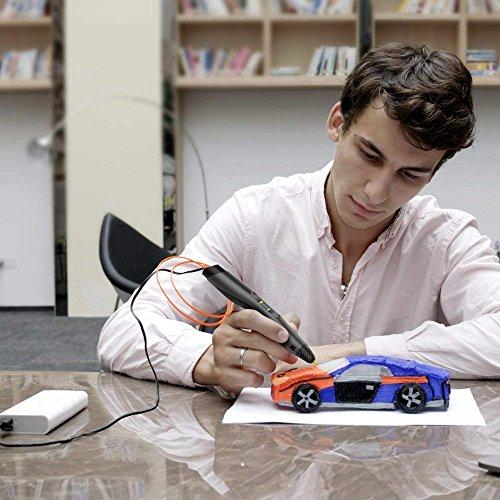 3D Drucker Stift - Aerb DIY Scribbler 3D Stereo Scopic Druck Stift mit LCD-Bildschirm, intelligente Temperaturregelung, kompatibel mit ABS und Pla Filament 1,75 mm, Anzug für Kinder, Erwachsene und Künstler - 6