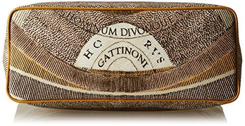 Gattinoni Gacpu0000122, Borsa a Spalla Donna, 14x36x34 cm (W x H x L) Beige (Deserto)
