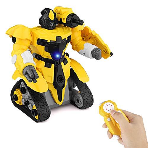 Baztoy Ferngesteuertes Roboter Spielzeug für Kinder Jungen Mädchen Früherziehung Bau Spielzeug Jungen Mädchen Kinder DIY Gebäude Zerlegen Demontage RC Roboter Spiele Parteien Geschenke Indoor Outdoor