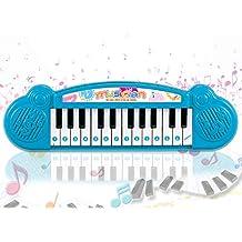 Popsugar Mini Musical Keyboard with 24 Keys for Kids, Blue