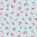Fabulous Fabrics Canvas Rosalie 3 hellblau - Meterware ab