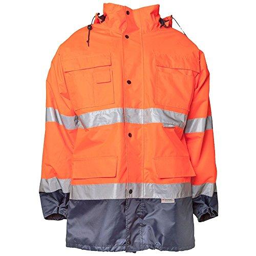 """Planam Parka \""""Warnschutz\"""" Größe XXL in orange/marine, 2056060"""