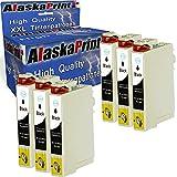 6 Druckerpatronen Komp. Für Epson T1631 xl 16XL 163XL Schwarz Black BK für Workforce WF-2760 2630 2510 2660 2540 WF2760 WF2630 WF2510 WF2660