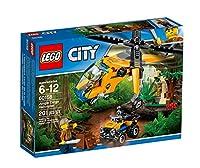 Vola nella giungla di LEGO® City per scoprirne i segreti nascosti Carica il fuoristrada sull'elicottero, trasportalo nella giungla e depositalo a terra con il verricello. Parti per trovare il tempio nascosto, ma fai attenzione all'enorme ragno Trover...