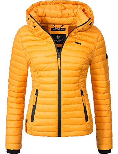 Marikoo Damen Übergangs-Jacke Jacke Steppjacke Samtpfote Sunset Gr. XL