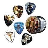 Nirvana Kurt Cobain Set of 6 Loose Guitar Médiators in Tin ( Collection B )