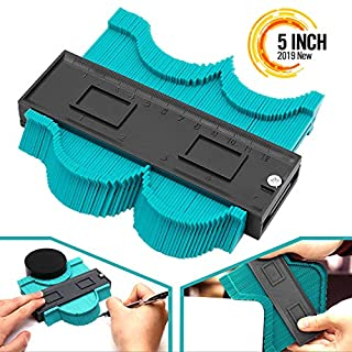 Seven Sparta Contour Gauge Duplicator, 5 Inch Profile Guide for Woodworking Project Copy Layout Shape, Tracing Pipe Tile Frame Template, Measuring Tool for Perfect Fit and Easy Cutting (Green)