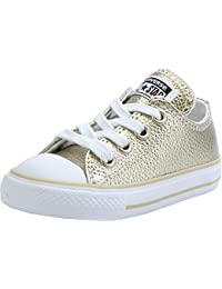 Converse Chuck Taylor All Star Metallic Infant Light Gold Leather Trainers
