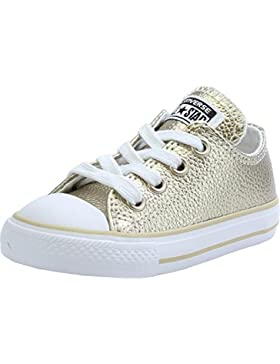 Converse Chuck Taylor All Star Junior White Leather Trainers