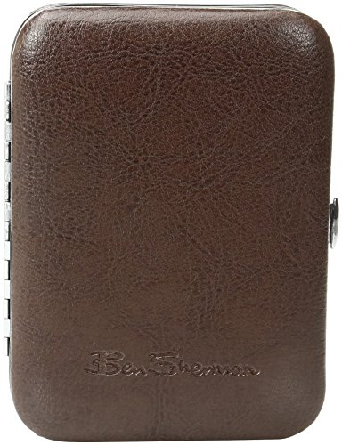 Ben Sherman Men's Edgeware 4-Piece Personal Grooming Set with Carrying Case, Brown, One Size