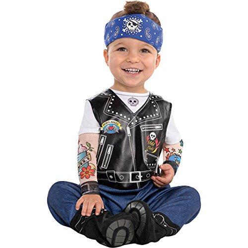 Baby Biker Kostüm Gr.86 (Kostüm Baby Biker)
