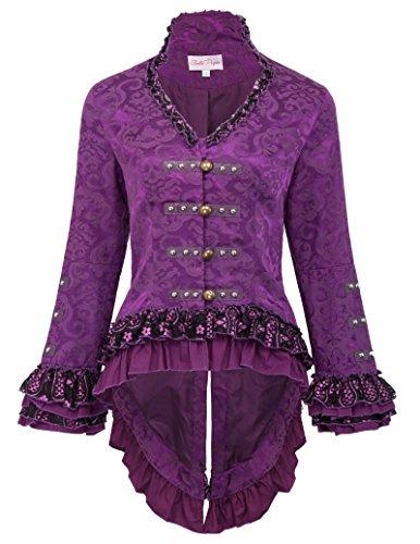 Belle Poque Viktorianische Gothik Jacke Kostüm Mantel SteampunkJacket Übergangsjacke XL - Rosa Belle Kostüm