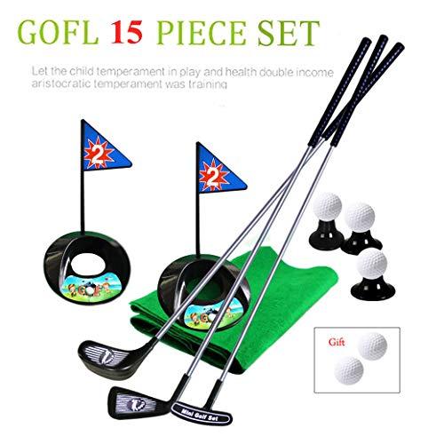 SOWOFA Jouets de Golf pour Enfants Ensemble de 14 pièces Full Metal Rod Produits de Golf Pratique...