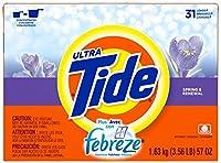 Tide Ultra Plus Febreze Freshness Spring & Renewal Scent Powder Laundry Detergent 57 oz.