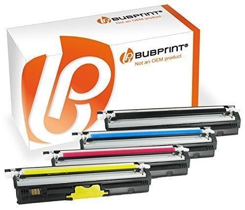 Fotoleiter-set (Bubprint 4 Toner-Kartuschen kompatibel für Konica Minolta 1600 Set Multipack Black, Cyan, Magenta, Yellow)