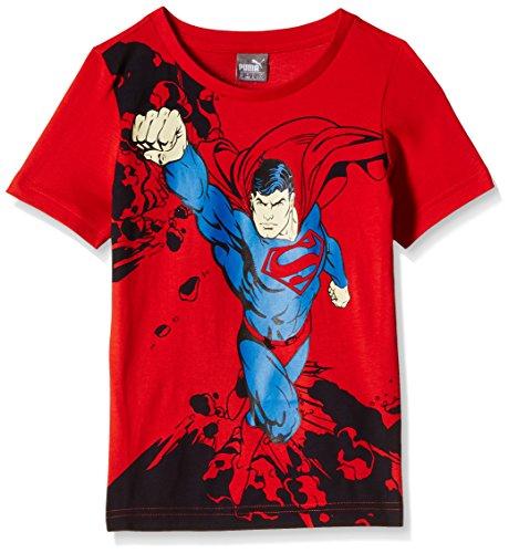 PUMA Kinder T-Shirt Fun Superman Tee B Puma Red