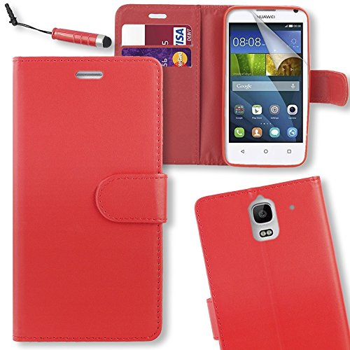 connect-zoner-huawei-ascend-y3-red-pu-leather-flip-wallet-case-cover-pouch-with-screen-protector-pol
