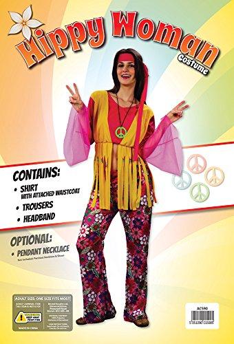 Bristol Novelty AC590 Costume da Donna Hippy