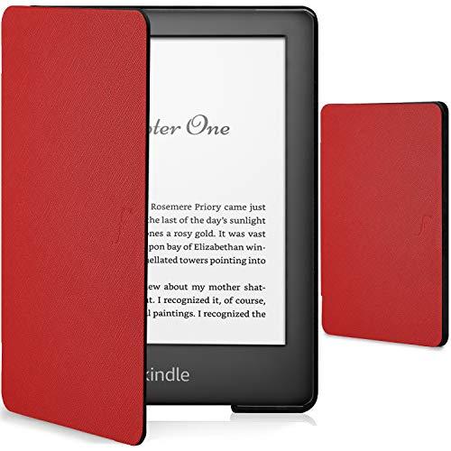 Forefront Cases Smart Hülle für Kindle 2019   Magnetische Schutzülle Cover für Amazon Kindle (10. Generation - 2019 Modell)   Shell Design & Auto Schlaf Wach Funktion   Elegant Dünn Leicht   Rot
