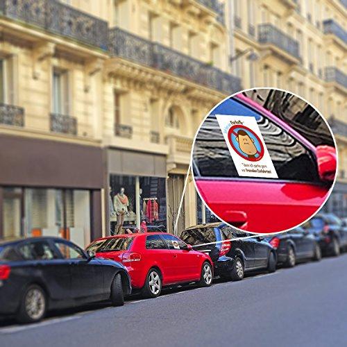 100 Parkaffe Aufkleber – scheiße geparkt in der Einfahrt – Verwarnung für Falschparker - 4