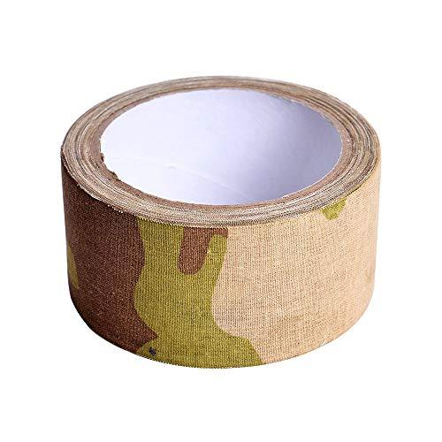 Lvcky 1Roll Camuflaje Gamuza de Cinta Americana de Adhesivo Cintas de Camuflaje para Caza al Aire Libre formación Protectora 50 mm x 10.9yd, Color CP(CP)