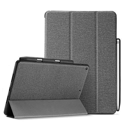 ProCase iPad 9.7 Hülle, Schlank Folio Stand Schutzhülle Smart Cover für iPad 9.7 2018 iPad 6th Generation / 2017 iPad 5th Generation mit Apple Pencil Holder -Grau