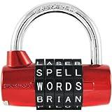 Wordlock PL-002-RD Wordlock Padlock