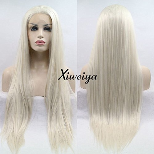 Xiweiya largo Silky recto peluca pelo rubio