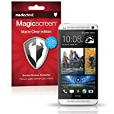 HTC One M7 (2013) Screen Protector, MediaDevil Magicscreen Matte Clear (Anti-Glare) Edition - (2 x Protectors)